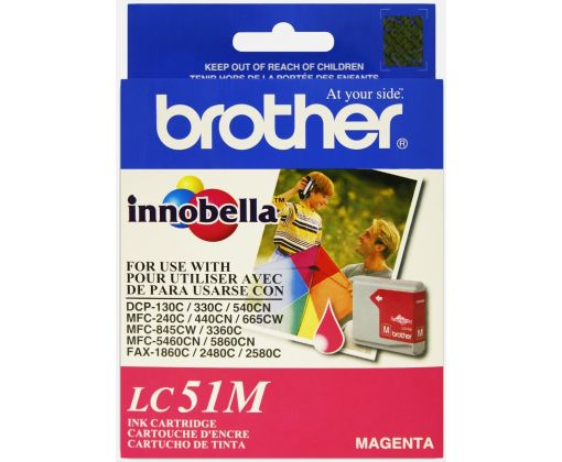 Cartucho De Tinta Brother Lc51m Magenta, Brother